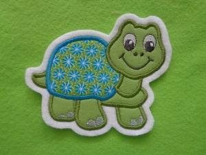 Süsse Schildkröte ☆ Applikation ☆ Aufnäher ☆ grün/türkis ☆  (Kopie id: 100132864) - Handarbeit kaufen