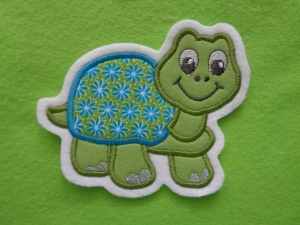Süsse Schildkröte ☆ Applikation ☆ Aufnäher ☆ grün/türkis ☆  (Kopie id: 100132864)