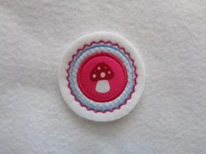 Mini-Button Pilz ♥ Applikation ♥ Aufnäher♥  - Handarbeit kaufen