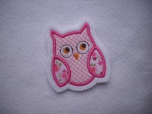 niedliche Eule ♥ Applikation ♥ Aufnäher ♥ rosa - Handarbeit kaufen