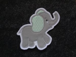 niedlicher Elefant ♥ grau ♥ Applikation ♥ Aufnäher ♥