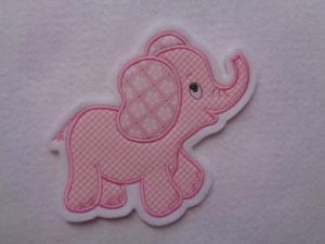 niedlicher Elefant ♥ rosa ♥ Applikation ♥ Aufnäher ♥  - Handarbeit kaufen