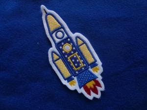 süsse Rakete, Raumschiff ♥ Applikation/Aufnäher ♥   - Handarbeit kaufen