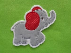 niedlicher Elefant ♥ grau ♥ Applikation ♥ Aufnäher ♥ (Kopie id: 100161658) - Handarbeit kaufen
