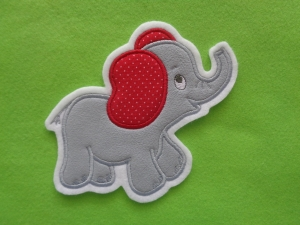 niedlicher Elefant ♥ grau ♥ Applikation ♥ Aufnäher ♥ (Kopie id: 100161658)