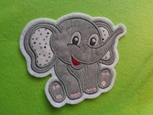 ☆ Aufnäher ☆ Applikation  ☆ süsser Elefant sitzend (Kopie id: 100215091) - Handarbeit kaufen