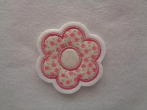niedliche ☆  Blume ☆   ☆ Applikation Aufnäher oder zum Aufbügeln - Handarbeit kaufen