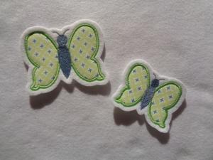 Süsser Schmetterling ☆ Applikation ☆ Aufnäher oder zum Aufbügeln - Handarbeit kaufen