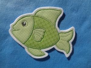 ☆ Applikation  ☆ Niedlicher Fisch ☆ Aufnäher oder zum Aufbügeln - Handarbeit kaufen