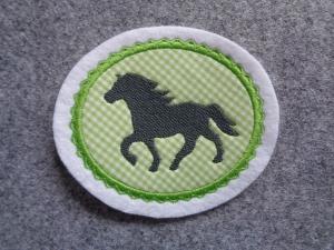 Pony gestickt ♥ süsse Applikation ♥ Aufnäher oder zum Aufbügeln ♥  - Handarbeit kaufen