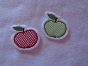 niedlicher  Mini Apfel   ☆ Applikation  ☆ Aufnäher  - Handarbeit kaufen