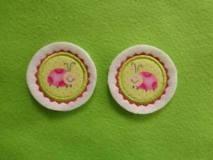 Mini-Button Käferle 2-er-Set ♥ Applikation ♥ Aufnäher ♥   - Handarbeit kaufen