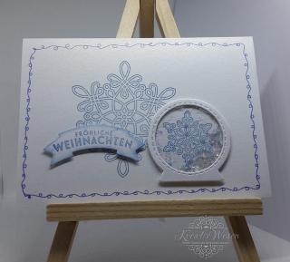 Grußkarte ☆ Fröhliche Weihnachten ☆ Schneekugel ☆ Schüttelkarte