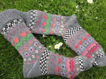 Bunte Socken Gr. 38/39 - gestrickte Socken