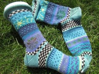 Bunte Socken Julitta Gr. 39/40 - gestrickte Socken Fair Isle