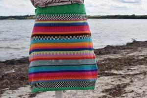 Bunter Strickrock Gr. M - kurzer Rock in knallbunten Farben  - Handarbeit kaufen
