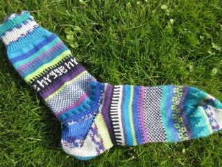 Bunte Herrensocken Gr. 42/43 - hygge Socken - Handarbeit kaufen