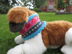 Bunter Hundeloop Gr. S - gestrickter Loop in nordischen Fair Isle Mustern  - Handarbeit kaufen