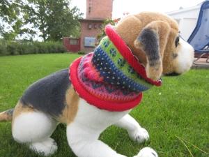 Bunter Hundeloop L - gestrickter Hundeschal in nordischen Fair Isle Mustern - Handarbeit kaufen