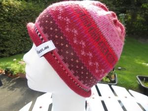 Bunte Kindermütze 4-8 Jahre - gestrickte Mütze in nordischen Fair Isle Mustern - Handarbeit kaufen