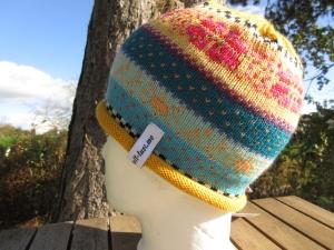 Bunte Kindermütze Kirsi 2-4 Jahre - gestrickte Mütze in nordischen Fair Isle Mustern