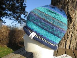 Bunte Kindermütze Alvar 4-8 Jahre - gestrickte Mütze in nordischen Fair Isle Mustern