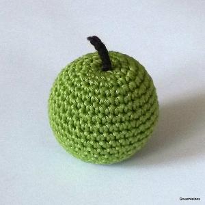 gehäkelter grüner Apfel aus Baumwolle ♥ der Dekotrend für dein Zuhause