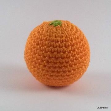 Gehäkelte Orange aus Baumwolle für den Kaufladen
