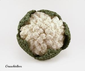 Gehäkelter Blumenkohl aus Baumwolle für den Kaufladen