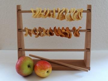 Apfelringe Trockner aus unbehandeltem Apfel- und Buchenholz