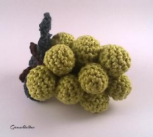 Gehäkelte grüne Weintrauben aus Baumwolle - Häkelobst aus der Gruschtelbox