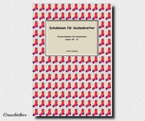 Schablonen für Sockenbretter, Strickschablonen für Damensocken, Grösse 35 - 41, PDF Datei
