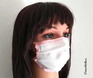 Mund-Nasen-Maske  mit Nasenbügel zum Binden für Erwachsene und Kinder - Handarbeit kaufen