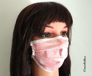 Mehrweg Mund-Nasen-Maske 2-lagig aus Baumwolle für Kinder und Erwachsene