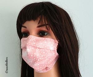 Mehrweg Mund-Nasen-Maske, Communitymaske aus Baumwolle mit Nasenbügel zum Binden  - Handarbeit kaufen