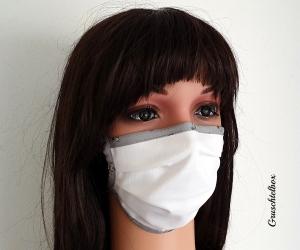 Mund- Nasen- Maske mit Nasenbügel 2-lagig zum Binden