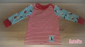 RESERVIERT,Babyshirt Gr.  80 genäht in Jersey, Maritim rot blau