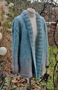 Strickjacke aus Islandwolle***onesize