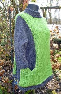 Pullover oversized für den Lagenlook mit Alpaka***onesize