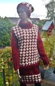 Norweger*Pullover aus Islandwolle im Hahnentrittmuster***S/M