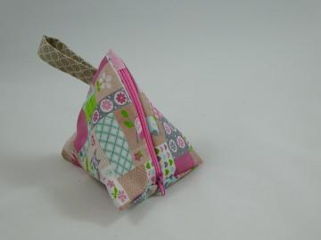 Dreiecktascherl, Taschensortierer, Zuckerltascherl (rosa/Patchwork)