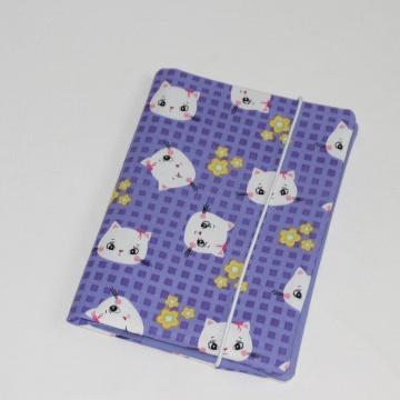 U-Hefthülle / Hausaufgabenhefthülle  ~ 2 Extrafächer ~ Katze lila