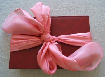 15% Rabatt - handgefärbtes Seidentuch - ca. 90x90cm - Pongé5 - rosa uni - 100% Seide