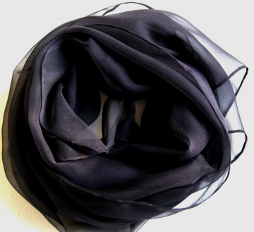 Chiffonschal - schwarz uni - ca.45x180cm