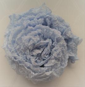 KNÜLL(er)-Seidenschal - bleu - Ausgangsgröße ca. 90x180cm - Pongé 5 (EP6)