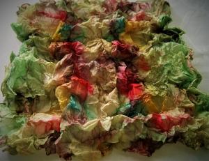 KNÜLL(er) - Seidentuch für den Herbsttyp - Tuch-Ausgangsgröße ca. 90x90cm  (EP49) - 100% Seide - Handarbeit kaufen
