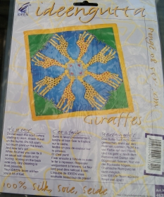 GIRAFFES - originalverpacktes Nickitüchlein für Kinder von ideengutta  - ca. 55x55cm - Pongé8 - Handarbeit kaufen