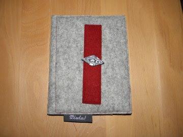 e-reader Tasche, Hülle aus Filz mit Einlage aus stabiler Buchbinderpappe