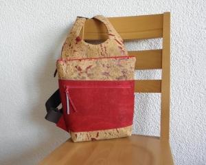 Edler Rucksack aus Korkstoff, Korkrucksack, ein Unikat von Dieda