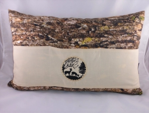 tolles Sofakissen, Dekokissen 40 x 60 cm mit 3 Taschen für Buch, Fernbedienung, von Dieda, Männerkissen - Handarbeit kaufen